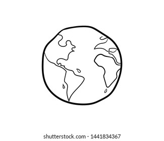 earth fire doodle icon vector hand drawing