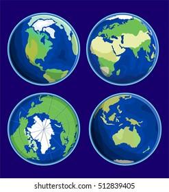 Earth Flat Icon Vector Illustration