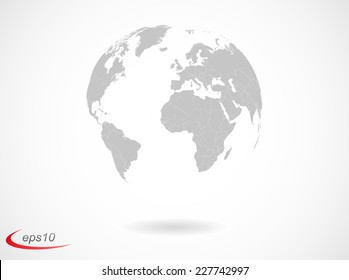 Earth globe with countries borders