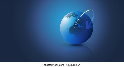 Earth Globe Design - Global Business, Technology, Globalisation Concept, Vector Design Template