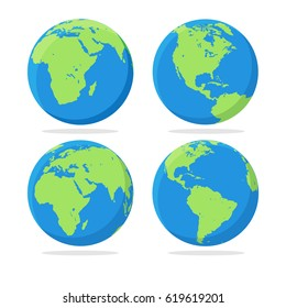 Earth globe design. Vector illustration