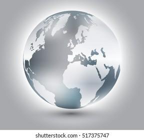 Earth globe design.Vector globe icon.