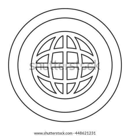 Phenomenal Earth Globe Diagram Inside Circle Icon Stock Vector Royalty Free Wiring 101 Archstreekradiomeanderfmnl