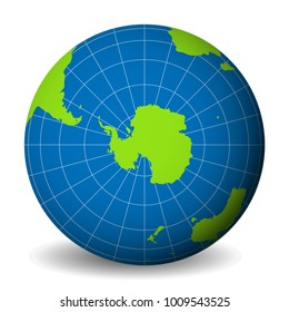 Map Of The Globe Of The World.Antarctica Map Images Stock Photos Vectors Shutterstock