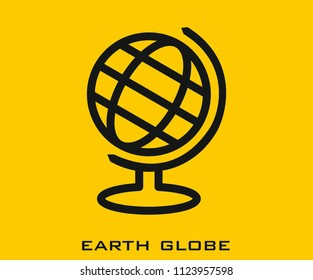 Earth globe icon signs