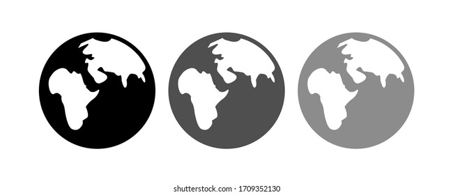Earth Globe icon stock vector illustration flat design.