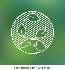Earth globe leaves planet protection care recycling save ecology concept