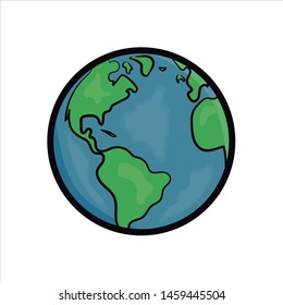 Earth Globe Png Vector Illustration