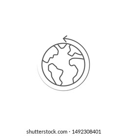 Earth globe vector icon symbol isolated on white background