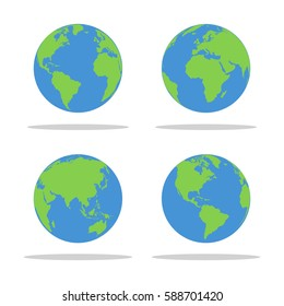 Earth globe for web design