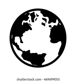 Black white planet earth icon image vectores en stock 575019115 earth globe world map circle global planet vector isolated illustration gumiabroncs Gallery