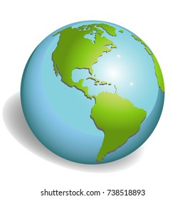 Earth globes isolated on white background