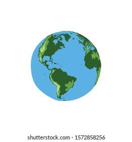 Earth hand drawn color design