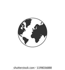 Earth icon flat. Icon Flat