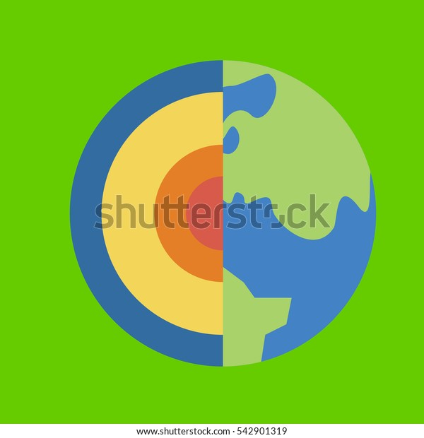 earth icon flat disign