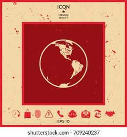 Earth icon. Logo