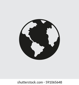 earth icon. pictograph of globe.