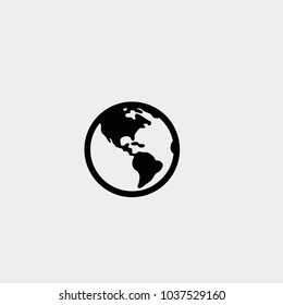 Earth icon. Vector earth. Africa map