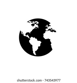 earth icon, earth icon vector, in trendy flat style isolated on white background. earth icon image, earth icon illustration