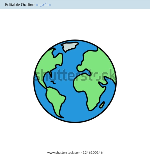 Earth Icon World Icon Globe Icon Stock Vector Royalty Free 1246100146 Download icons in all formats or edit them for your designs. https www shutterstock com image vector earth icon world globe planet 1246100146