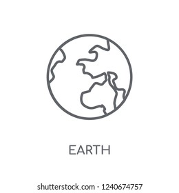 Earth linear icon. Modern outline Earth logo concept on white background from ASTRONOMY collection. Suitable for use on web apps, mobile apps and print media.