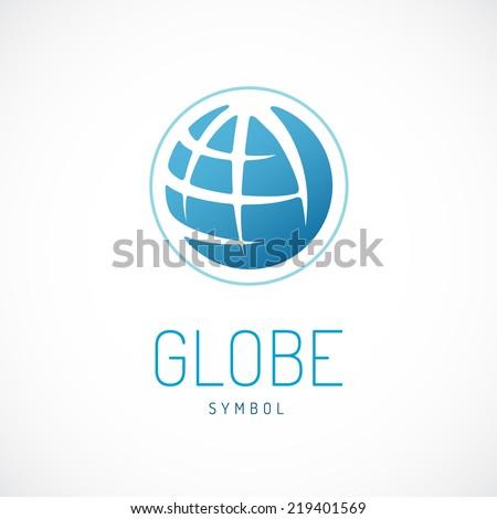 earth logo template globe sign のベクター画像素材 ロイヤリティ