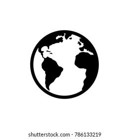earth logo vector icon
