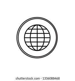 Earth minimal style Icon vector Eps10