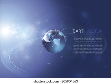 Earth. Modern vector background