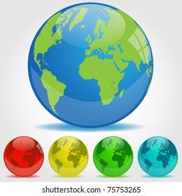 Earth Orbs Illustration