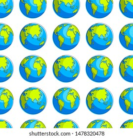 Earth planet seamless background, backdrop for ecological eco preservation website, vector wallpaper or web site background.