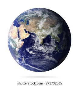 Earth realistic with shadow vector eps10. Elements of this vector furnished by NASA