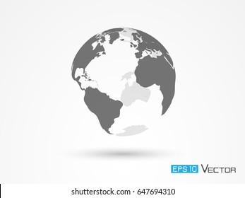 Earth silhouette isolated
