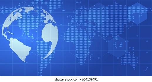 Earth technology background., vector illustration