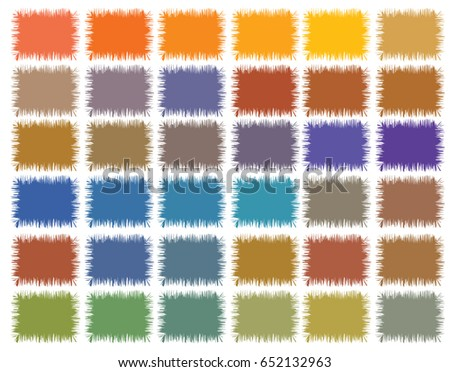 Earth Tone Color Palette Stock Vector Royalty Free 652132963