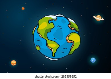 Earth and universe.