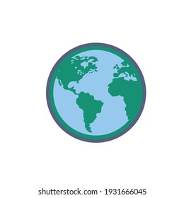 Earth vector icon for web design and mobile application user interface