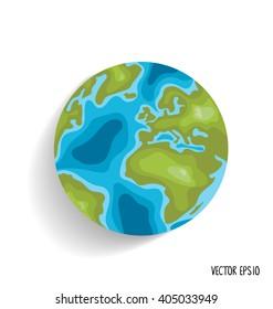 Earth. Vector illustration.