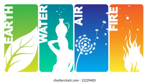 Earth Water Air Fire Cards