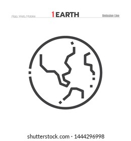 Earth or World icon illustration vector eps 10