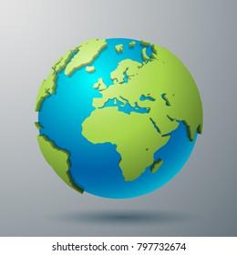 Earth world map illustration