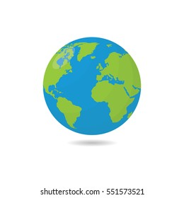 Earthor Globe Vector Illustration