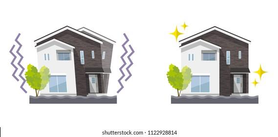 Earthquake encountered house