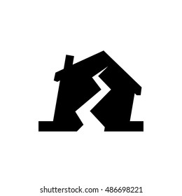 Earthquake icon illustration isolated vector sign symbol