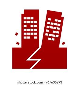 earthquake icon sign symbol