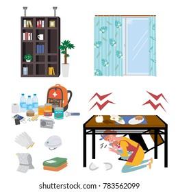 Earthquake illustration measures