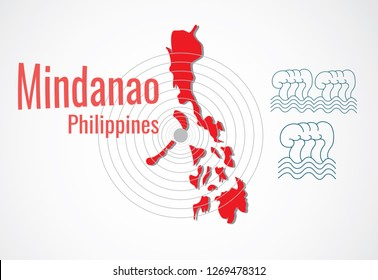 earthquake and tsunami in Mindanao island,Philippines
