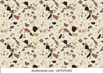 earthy terrazzo mid century pattern background