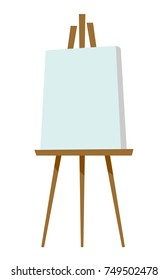 Easel with blank canvas vector cartoon illustration isolated on white background.