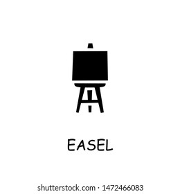 Easel flat vector icon. Hand drawn style design illustrations.